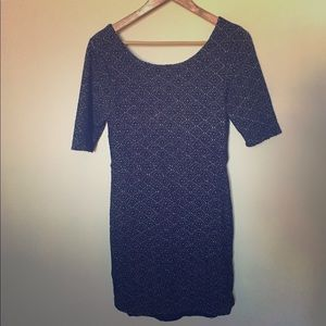 Free People BodyCon Jacquard Dress with Low Back